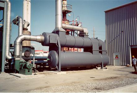 QUADRANT SR-7,000 Thermal (recuperative) Oxidizer designed, manufactured and installed by Catalytic Products International, Inc