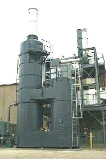 QUADRANT SR-15,000 Silicone Series Thermal (recuperative) Oxidizer designed, manufactured and installed by Catalytic Products International, Inc.