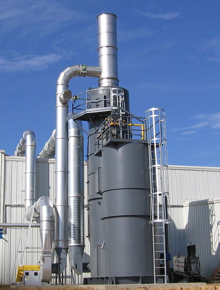 QUADRANT SRS Thermal Oxidizer replaces silicone-contaminated system