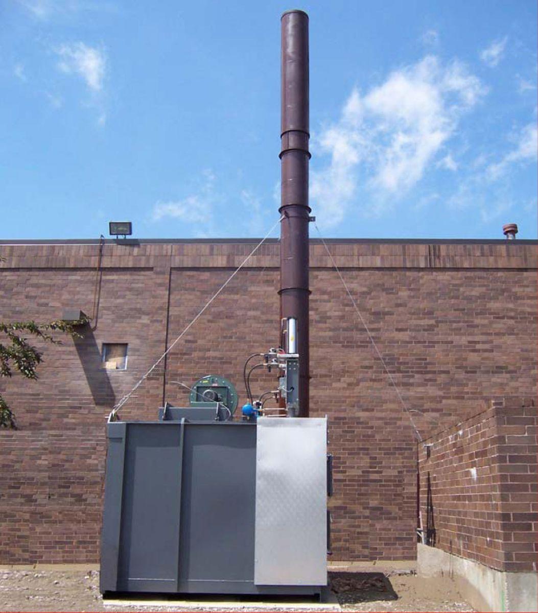 Regenerative Thermal Oxidizer, TRITON Series, installed for Custom Coater using Turnkey Method
