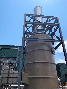 CPI 80,000 SCFM Packed Tower Scrubber