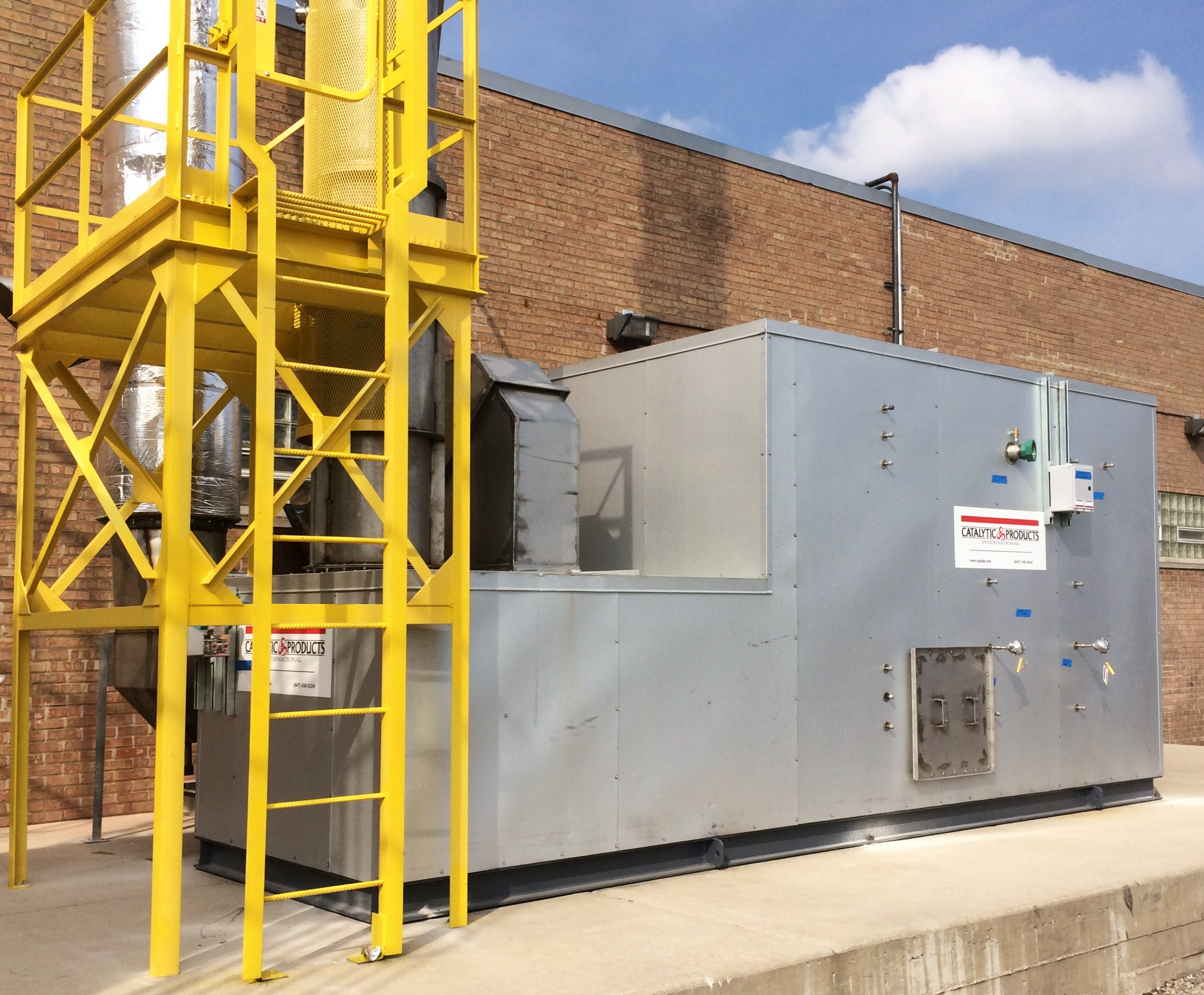 CPI CatOx unit installed at a commercial food processing facility.