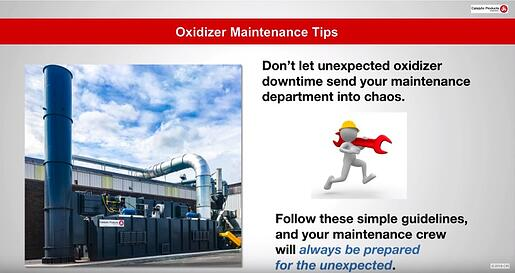 CPI Oxidizer Maintenance Tips 181108
