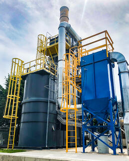 Catalytic Products SIlicone Thermal Oxidizer with Baghouse