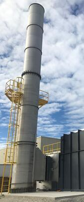 Catalytic Products Exhaust Stack with OSHA safety