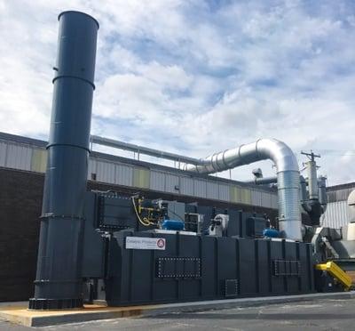 CPI Install 35,000 Regenerative Thermal Oxidizer