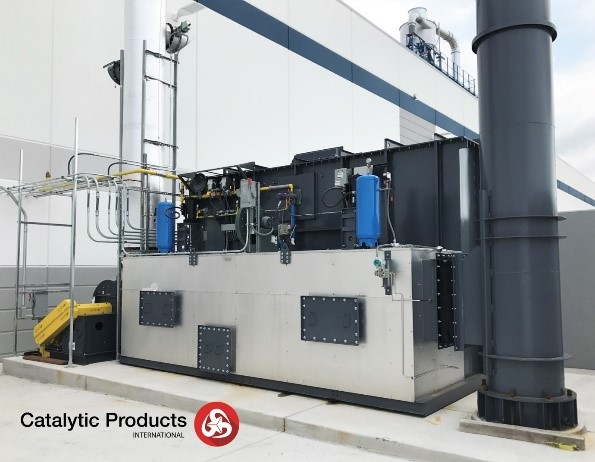 Oxidizer for metal decorating and controlling voc emissions