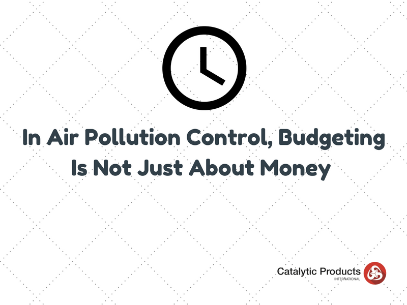 In Air Pollution Control, Budgeting Is Not Just About Money